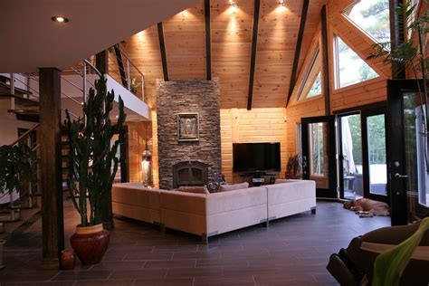 Modern Log Home Interiors | log cabin interiors for the most comfortable log cabin at