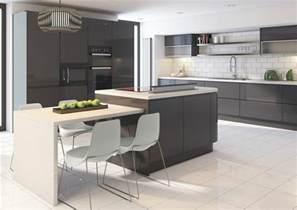 Délicieux Peinture Pour Cuisine Blanche #3: meubles-cuisine-facade-cuisine-gris-anthracite-%C3%AElot-de-cuisine-couleur-anthracite-carrelage-blanc-design-cuisine-contemporaine.jpg