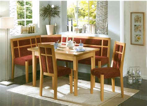 Corner Booth Dining Set Table Kitchen Solid Wood Farmhouse Stl Kitchen Nook Corner Bench Booth Dining Set Table Chairs Ebay