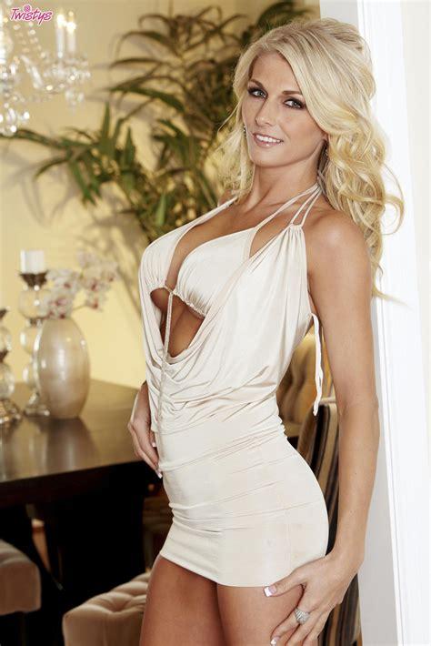 alicia secrets in sexy white dress