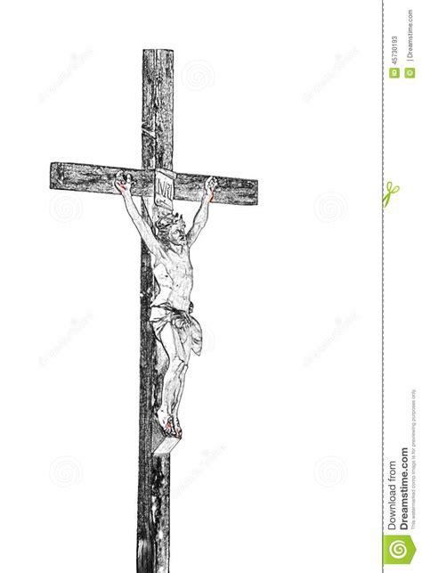 imagenes de jesucristo a blanco y negro cristo en la cruz en negro y blanco stock de ilustraci 243 n