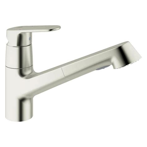 shop grohe europlus supersteel pull out kitchen faucet at