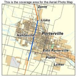 porterville california map aerial photography map of porterville ca california