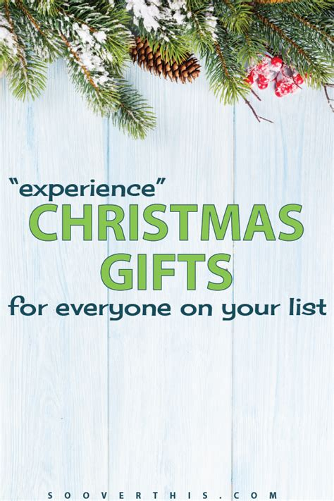 christmas gift experience ideas quot experience quot gifts for everyone on your list