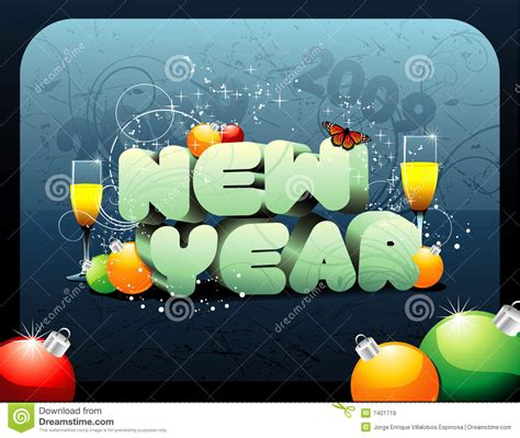 new year composition new year vector composition royalty free stock images