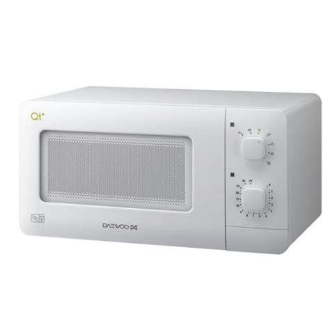 daewoo compact manual microwave white 14 litre 600w