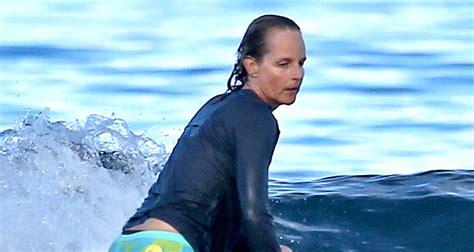 helen hunt surfing helen hunt shows off impressive surfing skills at 52