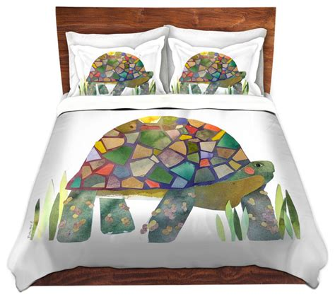 Dianoche Duvet Covers Twill Turtle Modern Duvet Turtle Bedding Set