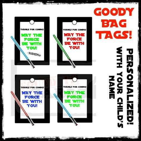 star wars printable luggage tags star wars favor bag goody bag tags printable