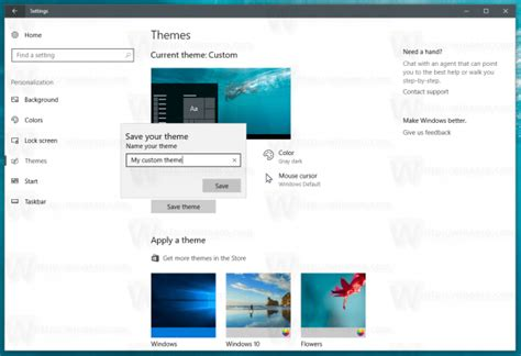 theme line windows save a theme as deskthemepack in windows 10 creators update