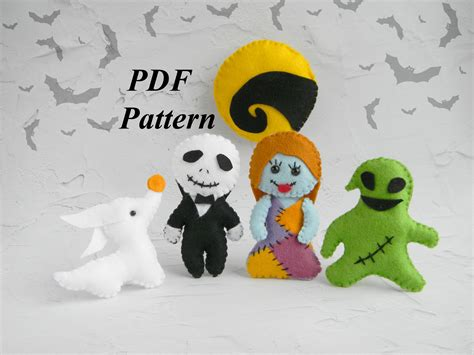 zero nightmare before christmas sewing pattern halloween felt pattern nightmare before christmas ornament