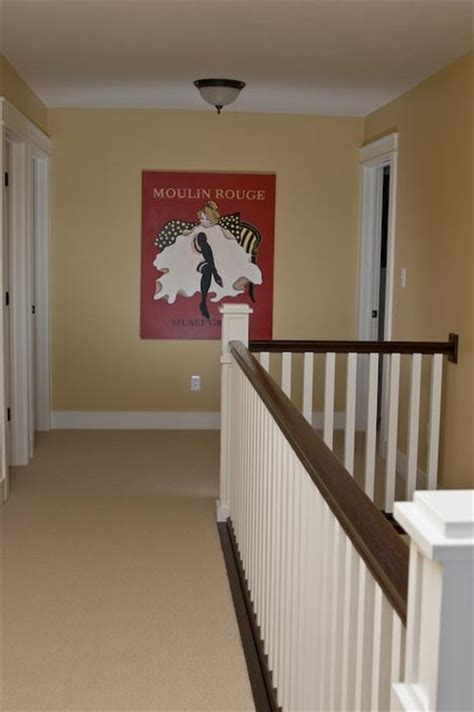 Landing Banister Upstairs Hallway Craftsman Hall Indianapolis By
