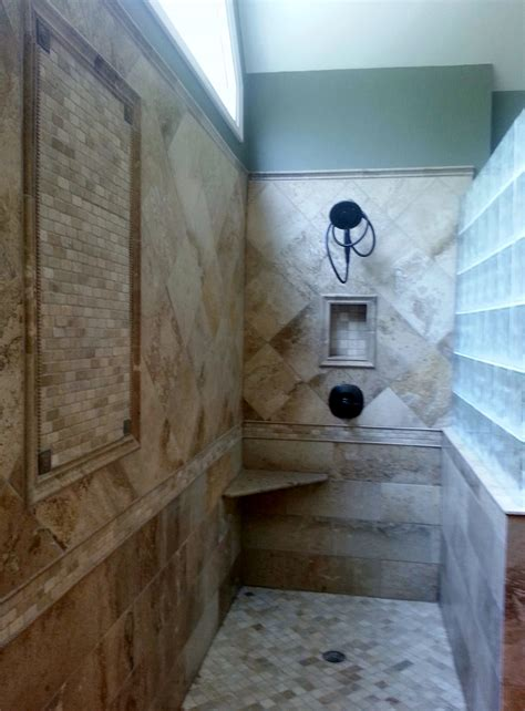 Custom tiled showers kolby construction charlotte nc remodeling and