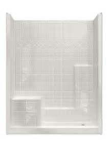 white tiled shower stalls with seats corner and glass
