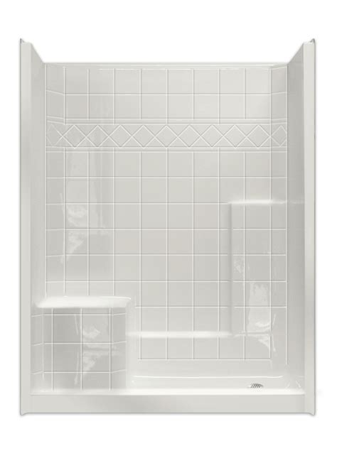 Shower Units Seat White Tiled Shower Stalls With Seats Corner And Glass