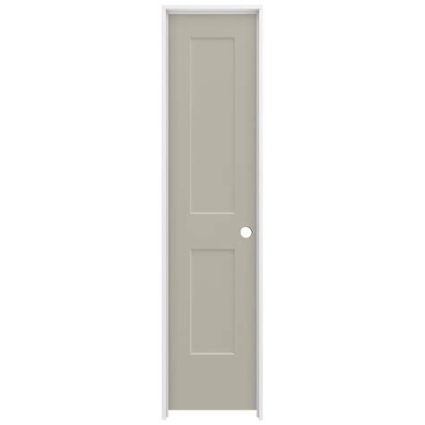 20 Interior Door Jeld Wen 20 In X 80 In Smooth 2 Panel Desert Sand Solid Molded Composite Single Prehung