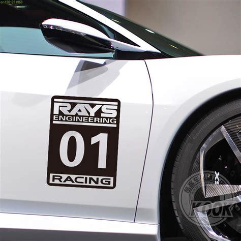 Sticker Mobil Stiker Mobil Open For Car Door aliexpress buy 1pc rays no 1 racing car sticker decals for door car styling water proof