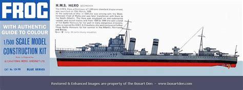 Frog HMS Hero Destroyer Blue Series