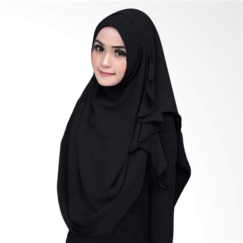 Premium Jilbab Instant Rainbow jual milyarda instant flowing jilbab instant black harga kualitas terjamin