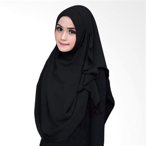 Jua Jual Jilbab Instant Roza jual milyarda instant flowing jilbab instant black di blibli vafa busana