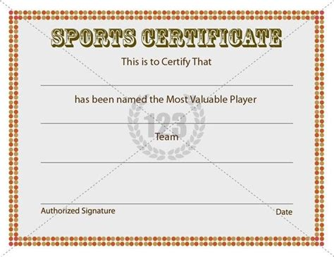 free sports certificate templates sports certificate template certificate template
