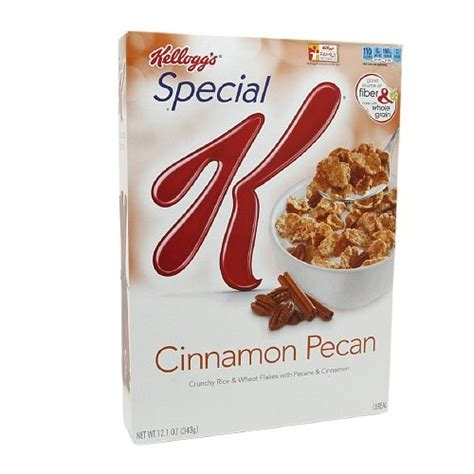 carbohydrates in kellogg s special k kellogg s special k cinnamon pecan cereal 12 1 oz jet