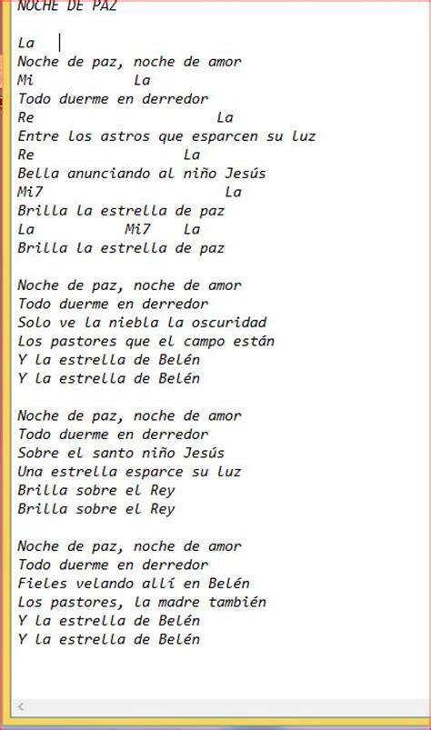 printable lyrics to noche de paz image gallery noche de paz letra
