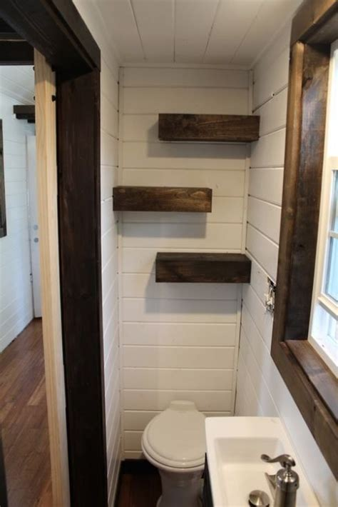 bathroom shelving tiny heirloom luxury tiny house