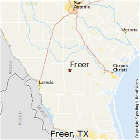 freer texas map best places to live in freer texas