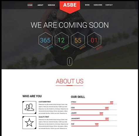 html coming soon template free asbe free coming soon html psd template free