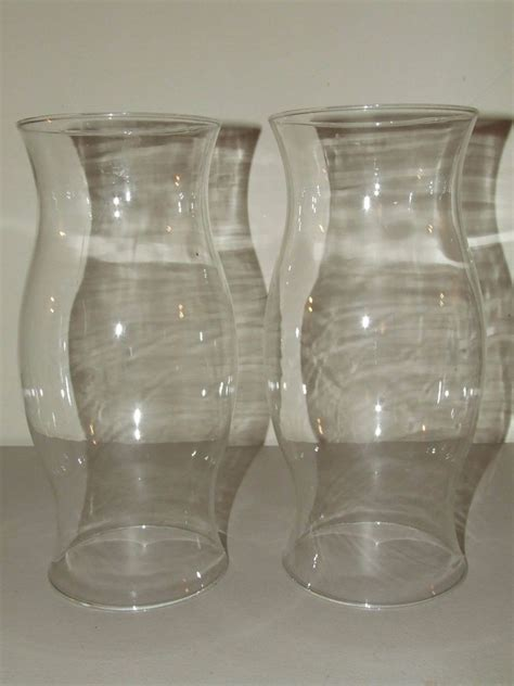 Chimney L Shades by Antique Matching Pair Of Blown Hurricane Candle L
