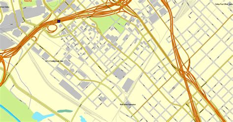 dallas texas us map dallas texas us exact vector map adobe pdf editable city plan v3 09 vector