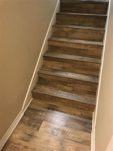 dockside sand mannington adura luxury vinyl plank glue down on stairs vinyl floors pinterest
