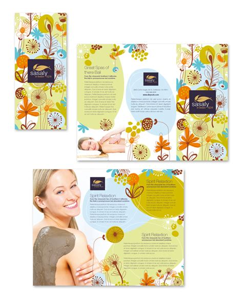 free templates for spa brochures day spa beauty salon tri fold brochure template http