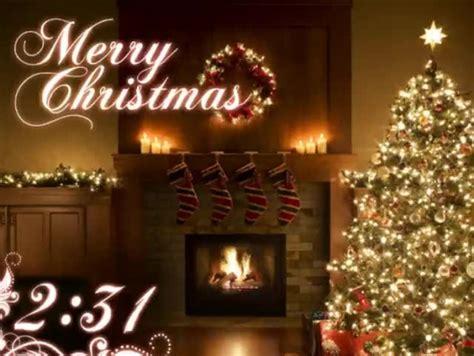 merry christmas fireplace tree countdown motion worship sermonspice