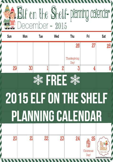 printable elf on the shelf calendar 2015 it s a mom s world 2015 elf on the shelf planning