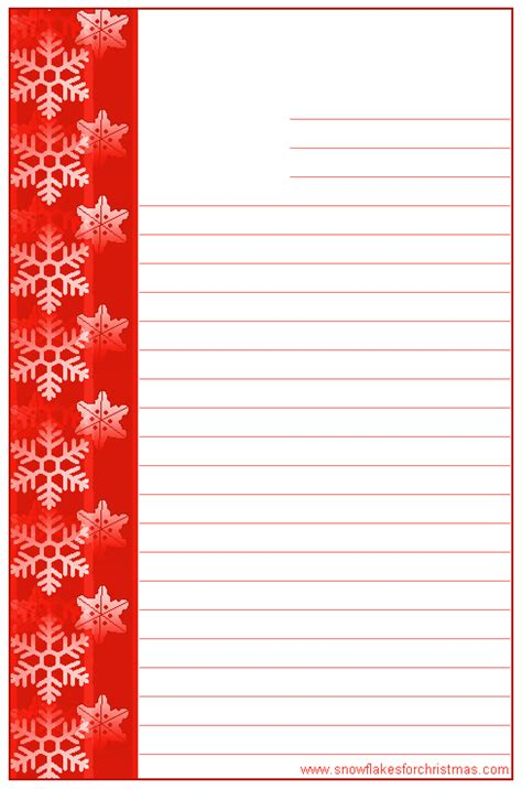 printable christmas stationary with lines christmas note paper clipart 42