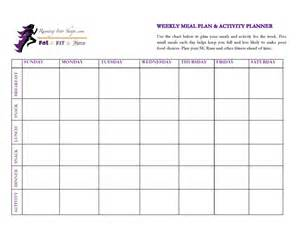 meal planner amp activity planner carli fierce running