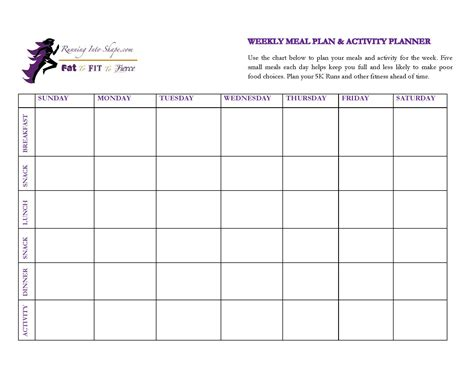printable weekly activity planner activity planner template best free home design idea