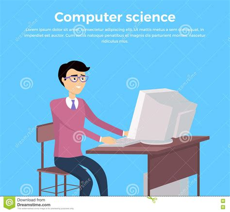 learn computer science with computation concepts programming paradigms data management and modern component architectures with and playgrounds books computer science concept banner stock vector image 73939869
