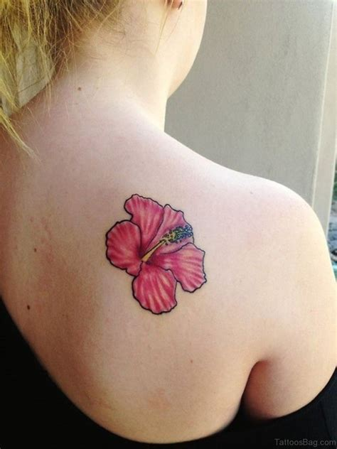 pink flower tattoo 51 hibiscus flower tattoos for shoulder