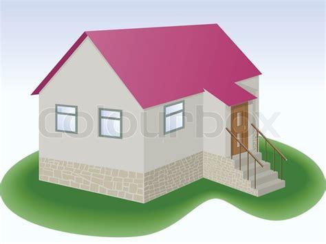 Graue Fassade Rotes Dach by Graue Haus Mit Rotem Dach Und Zus 228 Tzlich Stock Vektor