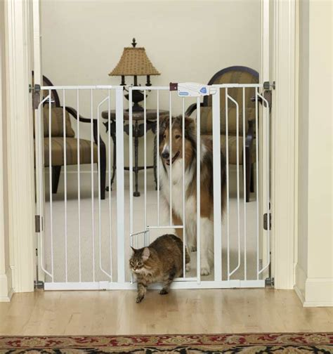 cat door for interior door dog gate with cat door interior exterior doors