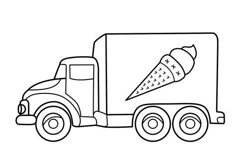 coloring pages transport vehicles desenho de caminh 227 o de sorvete para colorir tudodesenhos