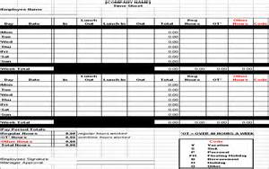 Hourly Timesheet Template by Hourly Timesheet Template Excel Chainimage