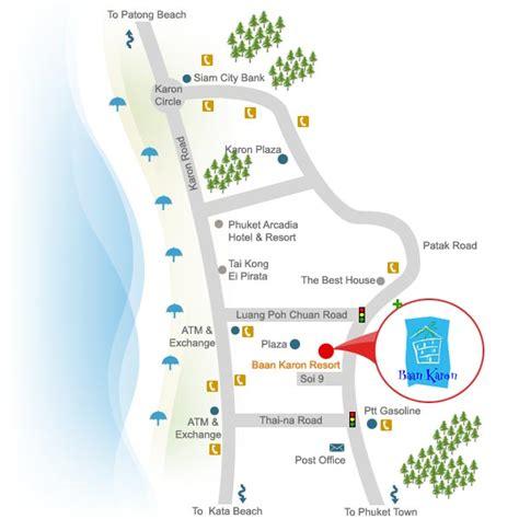 karon resort map baan karon resort phuket thailand free n easy travel