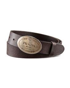 Prada Mawar U N G U prada saffiano leather belt brown