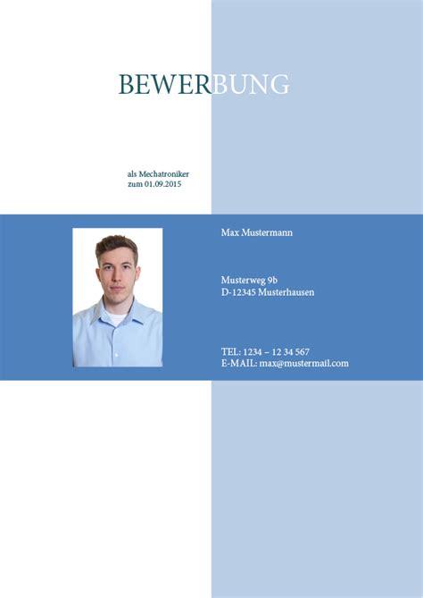 Deckblatt Vorlage Blau Bewerbung Professionell Schreiben Lassen