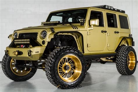 matte gold jeep 2015 jeep wrangler sema na prodej