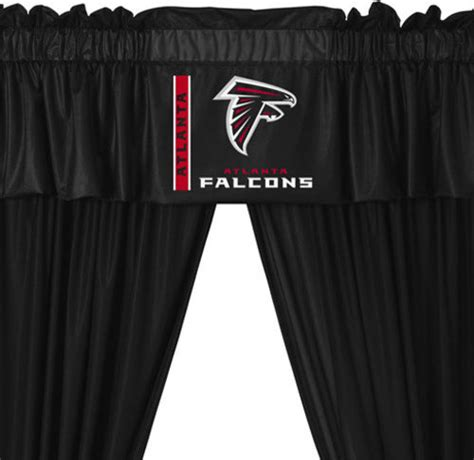 curtains atlanta nfl atlanta falcons 5 piece long curtain drapes valance